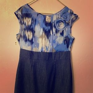 Jean Dress with blue top